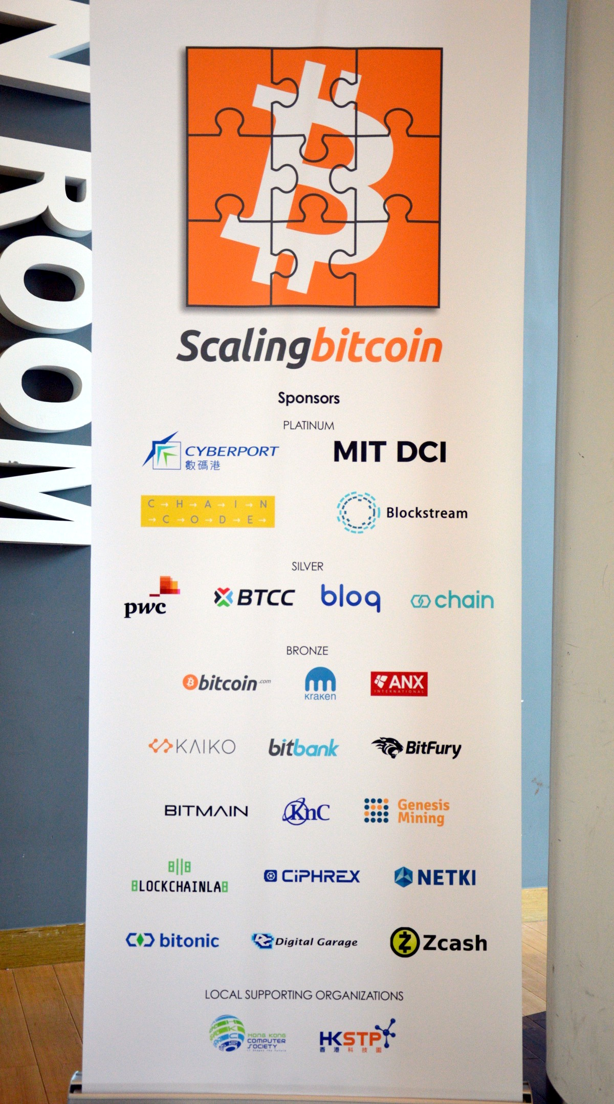 sponsoren van Scaling Bitcoin II
